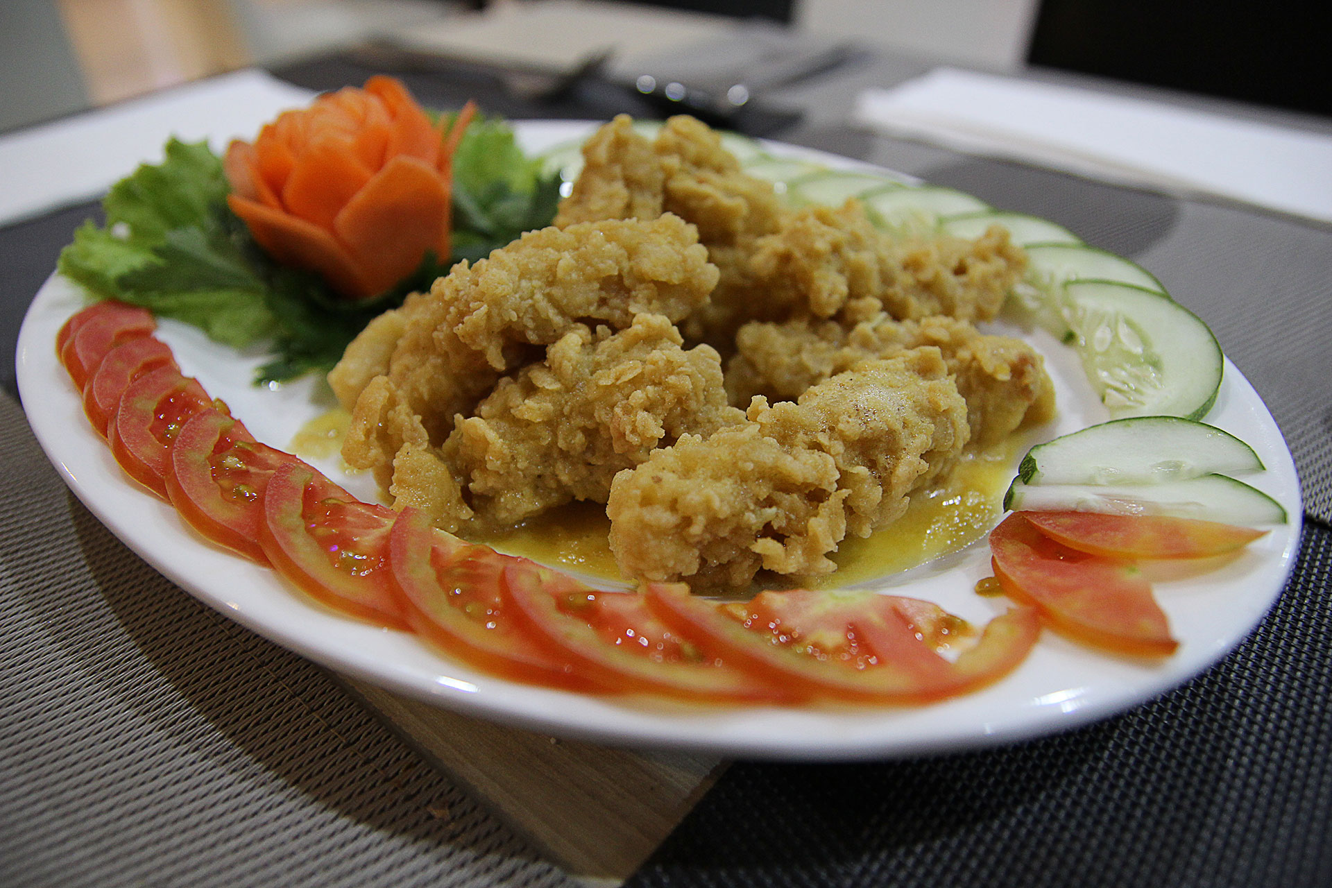 Squid In Salted Egg